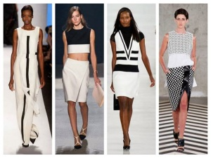 black and white spring summer 2014 fashion trend