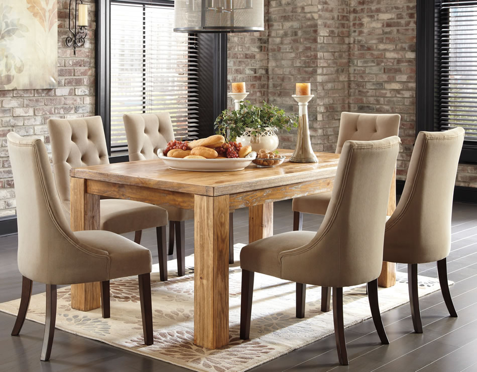 Honey_Pine_Dining_Table_Mestler U201cMestleru201d Dining Set ...